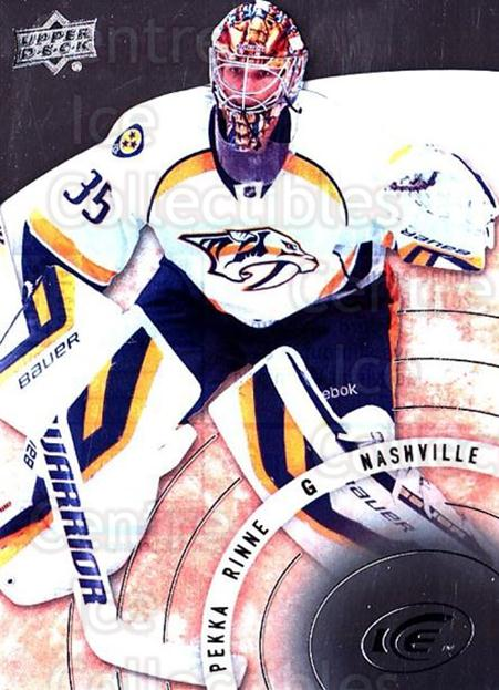 2014-15 UD Ice #68 Pekka Rinne<br/>1 In Stock - $3.00 each - <a href=https://centericecollectibles.foxycart.com/cart?name=2014-15%20UD%20Ice%20%2368%20Pekka%20Rinne...&quantity_max=1&price=$3.00&code=709399 class=foxycart> Buy it now! </a>