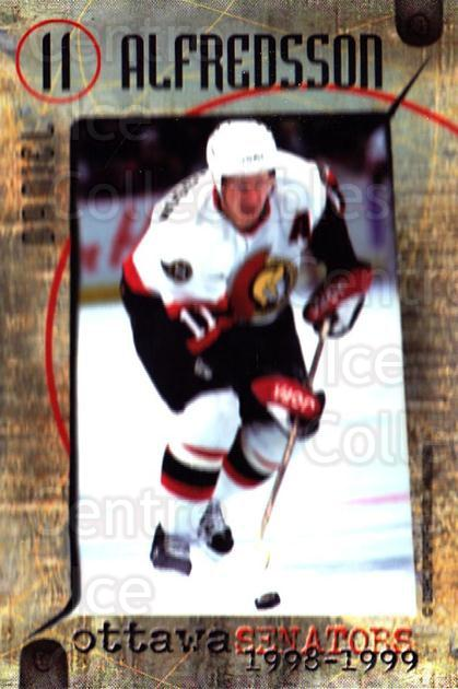 1998-99 Ottawa Senators Team Issue #1 Daniel Alfredsson<br/>3 In Stock - $3.00 each - <a href=https://centericecollectibles.foxycart.com/cart?name=1998-99%20Ottawa%20Senators%20Team%20Issue%20%231%20Daniel%20Alfredss...&quantity_max=3&price=$3.00&code=71049 class=foxycart> Buy it now! </a>
