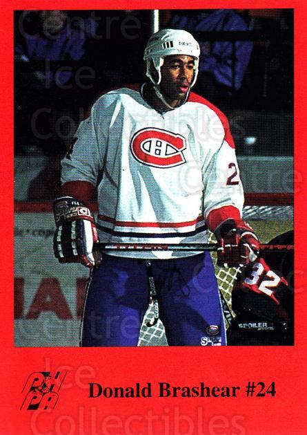 1993-94 Fredericton Canadiens #3 Donald Brashear<br/>7 In Stock - $3.00 each - <a href=https://centericecollectibles.foxycart.com/cart?name=1993-94%20Fredericton%20Canadiens%20%233%20Donald%20Brashear...&quantity_max=7&price=$3.00&code=7105 class=foxycart> Buy it now! </a>