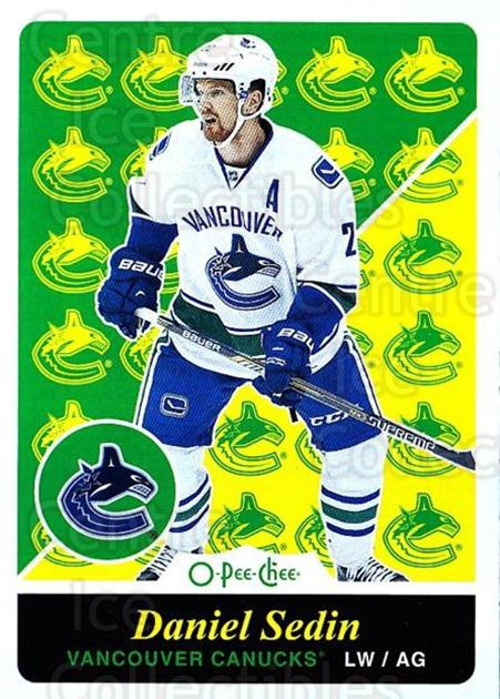 2015-16 O-pee-chee Retro #184 Daniel Sedin<br/>1 In Stock - $2.00 each - <a href=https://centericecollectibles.foxycart.com/cart?name=2015-16%20O-pee-chee%20Retro%20%23184%20Daniel%20Sedin...&quantity_max=1&price=$2.00&code=710925 class=foxycart> Buy it now! </a>