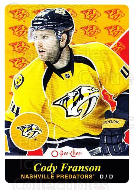 2015-16 O-pee-chee Retro #393 Cody Franson<br/>1 In Stock - $2.00 each - <a href=https://centericecollectibles.foxycart.com/cart?name=2015-16%20O-pee-chee%20Retro%20%23393%20Cody%20Franson...&quantity_max=1&price=$2.00&code=711134 class=foxycart> Buy it now! </a>