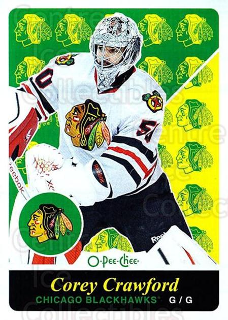2015-16 O-pee-chee Retro #411 Corey Crawford<br/>1 In Stock - $2.00 each - <a href=https://centericecollectibles.foxycart.com/cart?name=2015-16%20O-pee-chee%20Retro%20%23411%20Corey%20Crawford...&quantity_max=1&price=$2.00&code=711152 class=foxycart> Buy it now! </a>