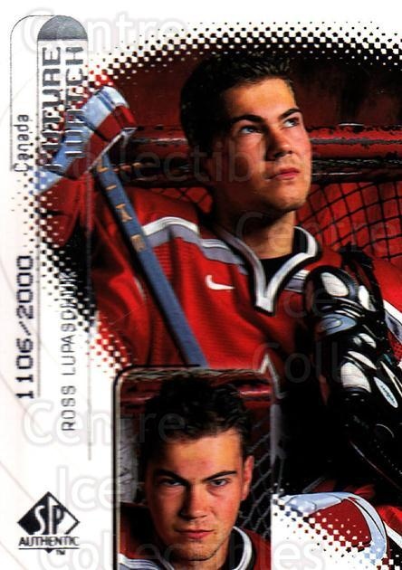 1998-99 Sp Authentic #118 Ross Lupaschuk<br/>2 In Stock - $3.00 each - <a href=https://centericecollectibles.foxycart.com/cart?name=1998-99%20Sp%20Authentic%20%23118%20Ross%20Lupaschuk...&quantity_max=2&price=$3.00&code=71129 class=foxycart> Buy it now! </a>