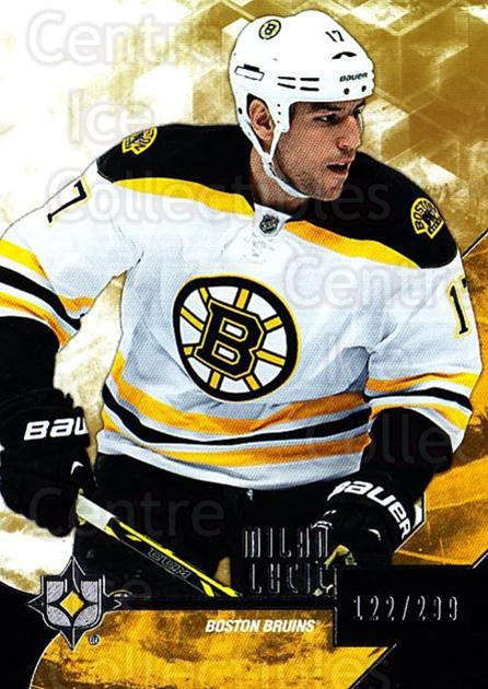 2014-15 UD Ultimate Collection #40 Milan Lucic<br/>1 In Stock - $5.00 each - <a href=https://centericecollectibles.foxycart.com/cart?name=2014-15%20UD%20Ultimate%20Collection%20%2340%20Milan%20Lucic...&quantity_max=1&price=$5.00&code=711599 class=foxycart> Buy it now! </a>