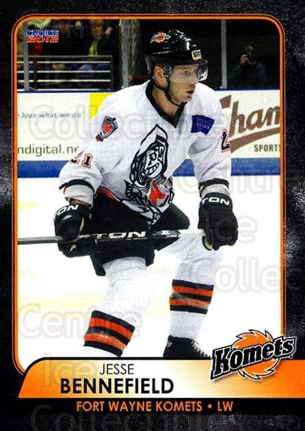2011-12 Fort Wayne Komets Choice #3 Jesse Bennefield<br/>2 In Stock - $3.00 each - <a href=https://centericecollectibles.foxycart.com/cart?name=2011-12%20Fort%20Wayne%20Komets%20Choice%20%233%20Jesse%20Bennefiel...&quantity_max=2&price=$3.00&code=712377 class=foxycart> Buy it now! </a>