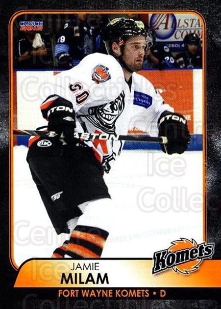 2011-12 Fort Wayne Komets Choice #11 Jamie Milam<br/>2 In Stock - $3.00 each - <a href=https://centericecollectibles.foxycart.com/cart?name=2011-12%20Fort%20Wayne%20Komets%20Choice%20%2311%20Jamie%20Milam...&quantity_max=2&price=$3.00&code=712385 class=foxycart> Buy it now! </a>