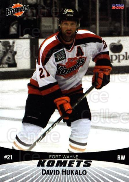 2009-10 Fort Wayne Komets Choice #9 David Hukalo<br/>1 In Stock - $3.00 each - <a href=https://centericecollectibles.foxycart.com/cart?name=2009-10%20Fort%20Wayne%20Komets%20Choice%20%239%20David%20Hukalo...&quantity_max=1&price=$3.00&code=712406 class=foxycart> Buy it now! </a>