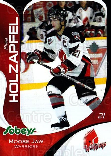 2007-08 Moose Jaw Warriors #16 Riley Holzapfel<br/>1 In Stock - $3.00 each - <a href=https://centericecollectibles.foxycart.com/cart?name=2007-08%20Moose%20Jaw%20Warriors%20%2316%20Riley%20Holzapfel...&quantity_max=1&price=$3.00&code=712462 class=foxycart> Buy it now! </a>