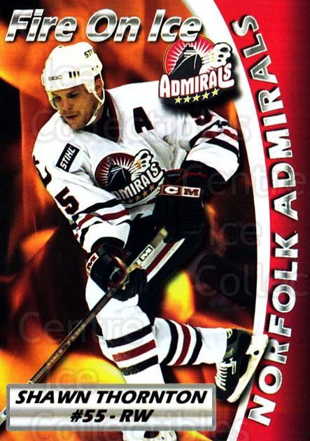 2005-06 Norfolk Admirals #24 Shawn Thornton<br/>1 In Stock - $5.00 each - <a href=https://centericecollectibles.foxycart.com/cart?name=2005-06%20Norfolk%20Admirals%20%2324%20Shawn%20Thornton...&price=$5.00&code=712494 class=foxycart> Buy it now! </a>