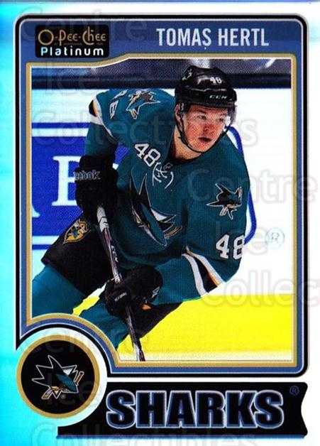 2014-15 O-Pee-Chee Platinum Rainbow #10 Tomas Hertl<br/>1 In Stock - $3.00 each - <a href=https://centericecollectibles.foxycart.com/cart?name=2014-15%20O-Pee-Chee%20Platinum%20Rainbow%20%2310%20Tomas%20Hertl...&quantity_max=1&price=$3.00&code=712625 class=foxycart> Buy it now! </a>