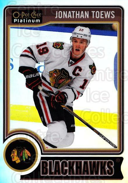 2014-15 O-Pee-Chee Platinum Rainbow #49 Jonathan Toews<br/>2 In Stock - $5.00 each - <a href=https://centericecollectibles.foxycart.com/cart?name=2014-15%20O-Pee-Chee%20Platinum%20Rainbow%20%2349%20Jonathan%20Toews...&quantity_max=2&price=$5.00&code=712664 class=foxycart> Buy it now! </a>