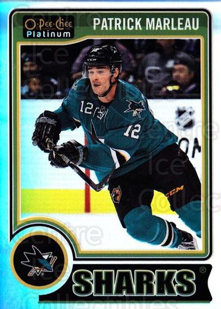 2014-15 O-Pee-Chee Platinum Rainbow #58 Patrick Marleau<br/>2 In Stock - $3.00 each - <a href=https://centericecollectibles.foxycart.com/cart?name=2014-15%20O-Pee-Chee%20Platinum%20Rainbow%20%2358%20Patrick%20Marleau...&quantity_max=2&price=$3.00&code=712673 class=foxycart> Buy it now! </a>