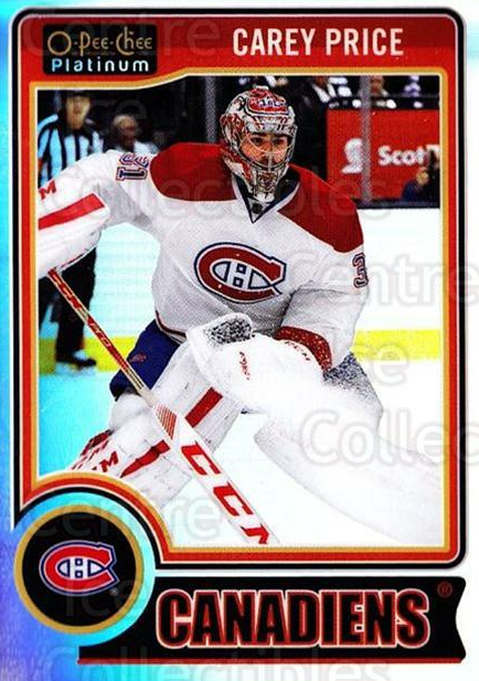 2014-15 O-Pee-Chee Platinum Rainbow #76 Carey Price<br/>2 In Stock - $10.00 each - <a href=https://centericecollectibles.foxycart.com/cart?name=2014-15%20O-Pee-Chee%20Platinum%20Rainbow%20%2376%20Carey%20Price...&price=$10.00&code=712691 class=foxycart> Buy it now! </a>