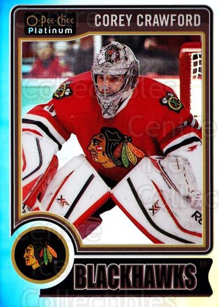 2014-15 O-Pee-Chee Platinum Rainbow #99 Corey Crawford<br/>2 In Stock - $3.00 each - <a href=https://centericecollectibles.foxycart.com/cart?name=2014-15%20O-Pee-Chee%20Platinum%20Rainbow%20%2399%20Corey%20Crawford...&quantity_max=2&price=$3.00&code=712714 class=foxycart> Buy it now! </a>