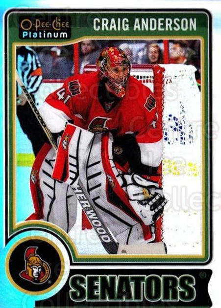 2014-15 O-Pee-Chee Platinum Rainbow #118 Craig Anderson<br/>2 In Stock - $3.00 each - <a href=https://centericecollectibles.foxycart.com/cart?name=2014-15%20O-Pee-Chee%20Platinum%20Rainbow%20%23118%20Craig%20Anderson...&quantity_max=2&price=$3.00&code=712733 class=foxycart> Buy it now! </a>
