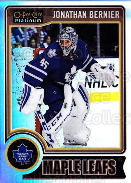 2014-15 O-Pee-Chee Platinum Rainbow #124 Jonathan Bernier<br/>2 In Stock - $3.00 each - <a href=https://centericecollectibles.foxycart.com/cart?name=2014-15%20O-Pee-Chee%20Platinum%20Rainbow%20%23124%20Jonathan%20Bernie...&quantity_max=2&price=$3.00&code=712739 class=foxycart> Buy it now! </a>