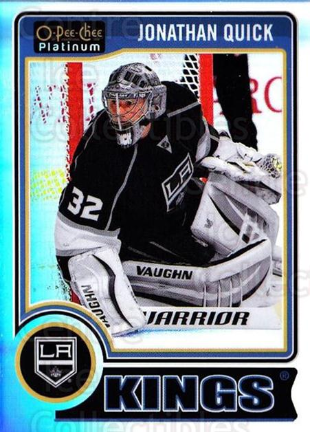 2014-15 O-Pee-Chee Platinum Rainbow #130 Jonathan Quick<br/>2 In Stock - $3.00 each - <a href=https://centericecollectibles.foxycart.com/cart?name=2014-15%20O-Pee-Chee%20Platinum%20Rainbow%20%23130%20Jonathan%20Quick...&quantity_max=2&price=$3.00&code=712745 class=foxycart> Buy it now! </a>