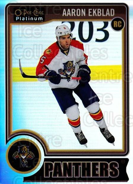 2014-15 O-Pee-Chee Platinum Rainbow #158 Aaron Ekblad<br/>2 In Stock - $10.00 each - <a href=https://centericecollectibles.foxycart.com/cart?name=2014-15%20O-Pee-Chee%20Platinum%20Rainbow%20%23158%20Aaron%20Ekblad...&quantity_max=2&price=$10.00&code=712773 class=foxycart> Buy it now! </a>