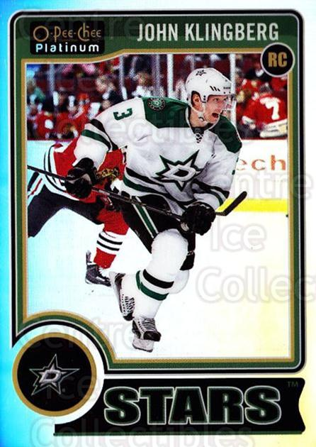 2014-15 O-Pee-Chee Platinum Rainbow #189 John Klingberg<br/>2 In Stock - $5.00 each - <a href=https://centericecollectibles.foxycart.com/cart?name=2014-15%20O-Pee-Chee%20Platinum%20Rainbow%20%23189%20John%20Klingberg...&quantity_max=2&price=$5.00&code=712804 class=foxycart> Buy it now! </a>