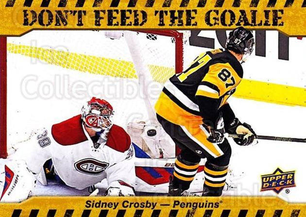 2016-17 Upper Deck Don't Feed The Goalie #SC Sidney Crosby<br/>1 In Stock - $5.00 each - <a href=https://centericecollectibles.foxycart.com/cart?name=2016-17%20Upper%20Deck%20Don't%20Feed%20The%20Goalie%20%23SC%20Sidney%20Crosby...&price=$5.00&code=713031 class=foxycart> Buy it now! </a>