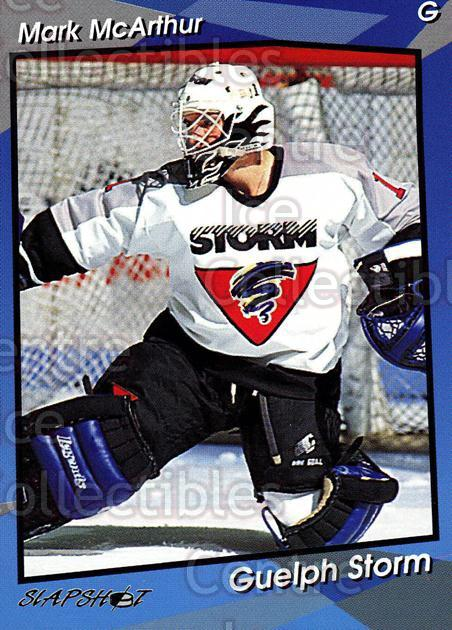 1993-94 Guelph Storm #3 Mark McArthur<br/>3 In Stock - $3.00 each - <a href=https://centericecollectibles.foxycart.com/cart?name=1993-94%20Guelph%20Storm%20%233%20Mark%20McArthur...&quantity_max=3&price=$3.00&code=7131 class=foxycart> Buy it now! </a>