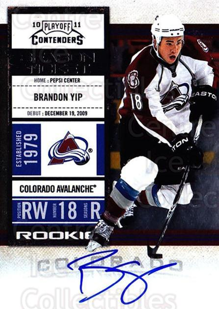 2010-11 Panini Contenders #130 Brandon Yip<br/>2 In Stock - $10.00 each - <a href=https://centericecollectibles.foxycart.com/cart?name=2010-11%20Panini%20Contenders%20%23130%20Brandon%20Yip...&quantity_max=2&price=$10.00&code=713273 class=foxycart> Buy it now! </a>