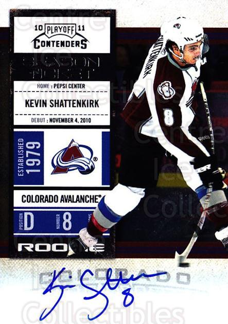 2010-11 Panini Contenders #133 Kevin Shattenkirk<br/>2 In Stock - $10.00 each - <a href=https://centericecollectibles.foxycart.com/cart?name=2010-11%20Panini%20Contenders%20%23133%20Kevin%20Shattenki...&quantity_max=2&price=$10.00&code=713276 class=foxycart> Buy it now! </a>