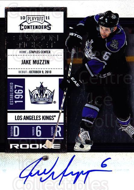 2010-11 Panini Contenders #138 Jake Muzzin<br/>2 In Stock - $10.00 each - <a href=https://centericecollectibles.foxycart.com/cart?name=2010-11%20Panini%20Contenders%20%23138%20Jake%20Muzzin...&price=$10.00&code=713281 class=foxycart> Buy it now! </a>