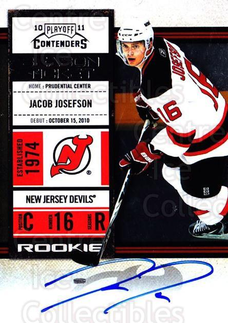 2010-11 Panini Contenders #148 Jacob Josefson<br/>2 In Stock - $10.00 each - <a href=https://centericecollectibles.foxycart.com/cart?name=2010-11%20Panini%20Contenders%20%23148%20Jacob%20Josefson...&quantity_max=2&price=$10.00&code=713291 class=foxycart> Buy it now! </a>