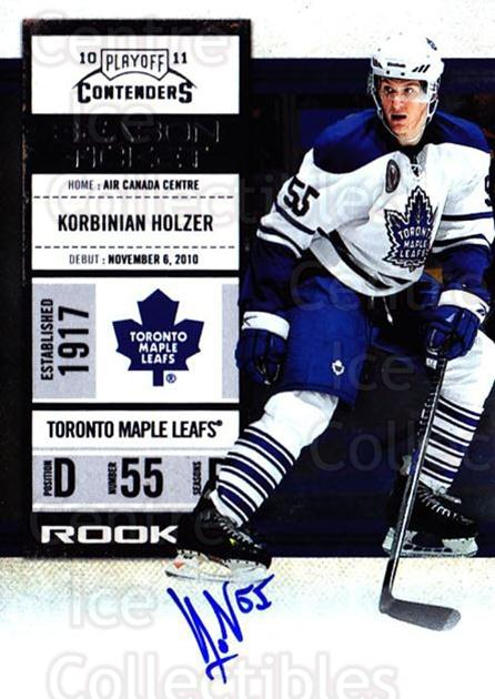 2010-11 Panini Contenders #164 Korbinian Holzer<br/>2 In Stock - $10.00 each - <a href=https://centericecollectibles.foxycart.com/cart?name=2010-11%20Panini%20Contenders%20%23164%20Korbinian%20Holze...&quantity_max=2&price=$10.00&code=713307 class=foxycart> Buy it now! </a>