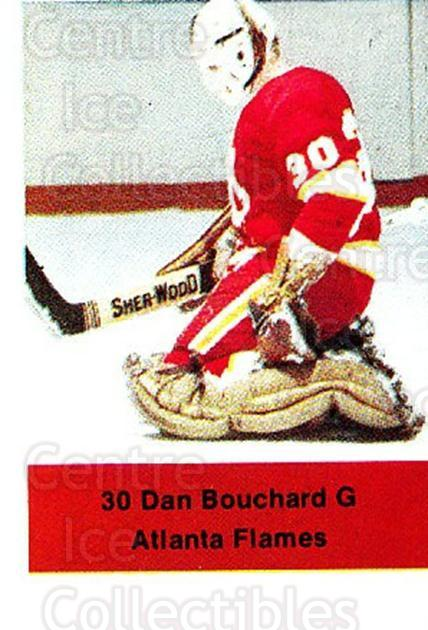 1974-75 NHL Action Stamps #6 Dan Bouchard<br/>1 In Stock - $3.00 each - <a href=https://centericecollectibles.foxycart.com/cart?name=1974-75%20NHL%20Action%20Stamps%20%236%20Dan%20Bouchard...&price=$3.00&code=713341 class=foxycart> Buy it now! </a>