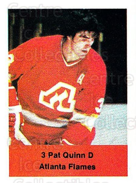 1974-75 NHL Action Stamps #7 Pat Quinn<br/>1 In Stock - $3.00 each - <a href=https://centericecollectibles.foxycart.com/cart?name=1974-75%20NHL%20Action%20Stamps%20%237%20Pat%20Quinn...&price=$3.00&code=713342 class=foxycart> Buy it now! </a>