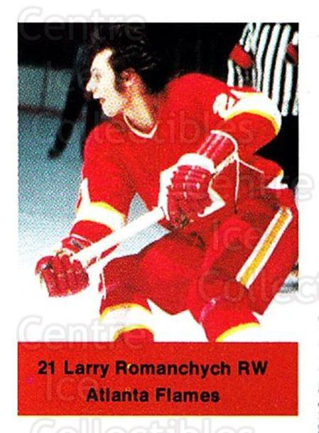 1974-75 NHL Action Stamps #8 Larry Romanchych<br/>1 In Stock - $3.00 each - <a href=https://centericecollectibles.foxycart.com/cart?name=1974-75%20NHL%20Action%20Stamps%20%238%20Larry%20Romanchyc...&price=$3.00&code=713343 class=foxycart> Buy it now! </a>