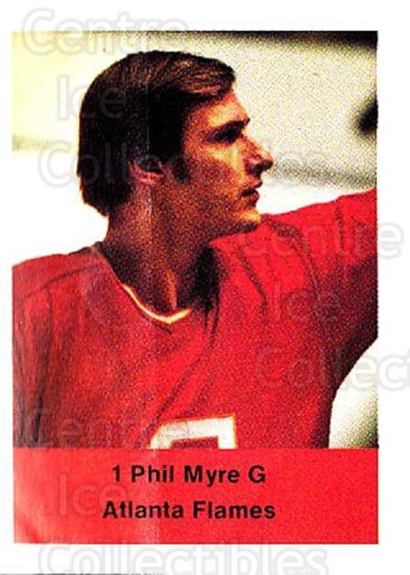 1974-75 NHL Action Stamps #10 Phil Myre<br/>1 In Stock - $3.00 each - <a href=https://centericecollectibles.foxycart.com/cart?name=1974-75%20NHL%20Action%20Stamps%20%2310%20Phil%20Myre...&quantity_max=1&price=$3.00&code=713345 class=foxycart> Buy it now! </a>