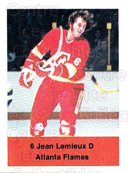 1974-75 NHL Action Stamps #13 Jean Lemieux<br/>1 In Stock - $3.00 each - <a href=https://centericecollectibles.foxycart.com/cart?name=1974-75%20NHL%20Action%20Stamps%20%2313%20Jean%20Lemieux...&quantity_max=1&price=$3.00&code=713348 class=foxycart> Buy it now! </a>