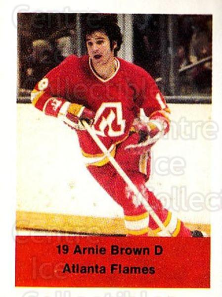 1974-75 NHL Action Stamps #14 Arnie Brown<br/>1 In Stock - $3.00 each - <a href=https://centericecollectibles.foxycart.com/cart?name=1974-75%20NHL%20Action%20Stamps%20%2314%20Arnie%20Brown...&quantity_max=1&price=$3.00&code=713349 class=foxycart> Buy it now! </a>