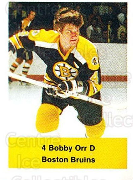 1974-75 NHL Action Stamps #19 Bobby Orr<br/>1 In Stock - $20.00 each - <a href=https://centericecollectibles.foxycart.com/cart?name=1974-75%20NHL%20Action%20Stamps%20%2319%20Bobby%20Orr...&price=$20.00&code=713354 class=foxycart> Buy it now! </a>