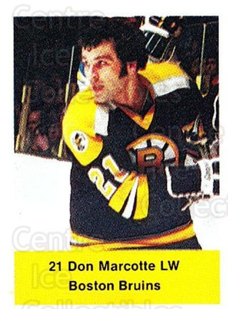 1974-75 NHL Action Stamps #21 Don Marcotte<br/>1 In Stock - $3.00 each - <a href=https://centericecollectibles.foxycart.com/cart?name=1974-75%20NHL%20Action%20Stamps%20%2321%20Don%20Marcotte...&quantity_max=1&price=$3.00&code=713356 class=foxycart> Buy it now! </a>
