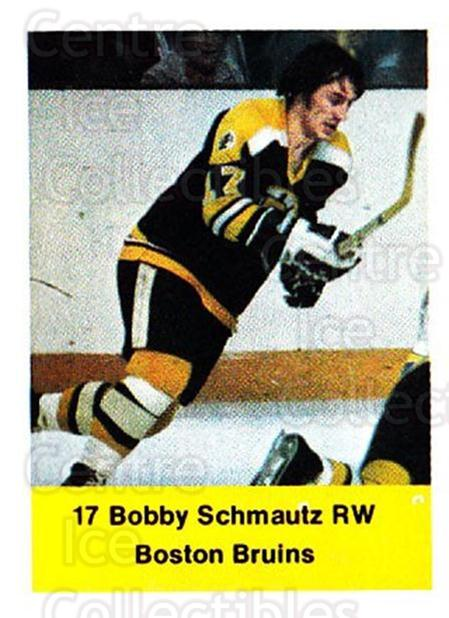 1974-75 NHL Action Stamps #25 Bobby Schmautz<br/>1 In Stock - $3.00 each - <a href=https://centericecollectibles.foxycart.com/cart?name=1974-75%20NHL%20Action%20Stamps%20%2325%20Bobby%20Schmautz...&quantity_max=1&price=$3.00&code=713360 class=foxycart> Buy it now! </a>