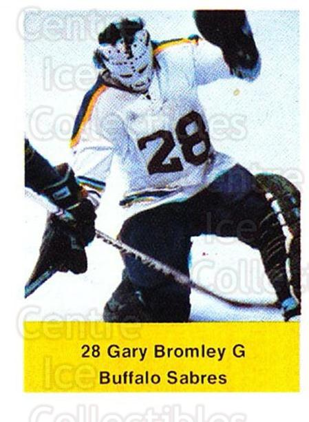 1974-75 NHL Action Stamps #41 Gary Bromley<br/>1 In Stock - $3.00 each - <a href=https://centericecollectibles.foxycart.com/cart?name=1974-75%20NHL%20Action%20Stamps%20%2341%20Gary%20Bromley...&quantity_max=1&price=$3.00&code=713376 class=foxycart> Buy it now! </a>