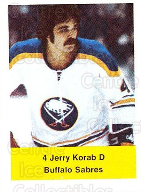 1974-75 NHL Action Stamps #43 Jerry Korab<br/>1 In Stock - $3.00 each - <a href=https://centericecollectibles.foxycart.com/cart?name=1974-75%20NHL%20Action%20Stamps%20%2343%20Jerry%20Korab...&quantity_max=1&price=$3.00&code=713378 class=foxycart> Buy it now! </a>