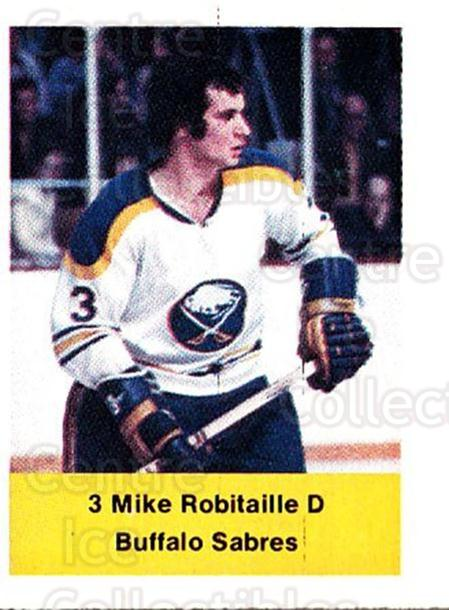 1974-75 NHL Action Stamps #51 Mike Robitaille<br/>1 In Stock - $3.00 each - <a href=https://centericecollectibles.foxycart.com/cart?name=1974-75%20NHL%20Action%20Stamps%20%2351%20Mike%20Robitaille...&quantity_max=1&price=$3.00&code=713386 class=foxycart> Buy it now! </a>