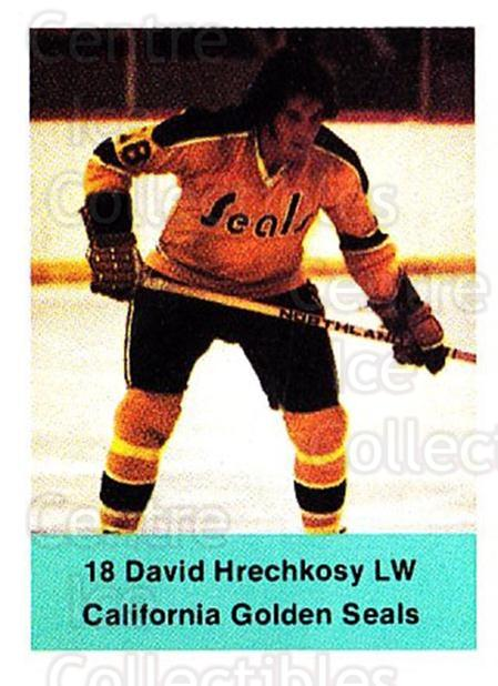 1974-75 NHL Action Stamps #59 Dave Hrechkosy<br/>1 In Stock - $3.00 each - <a href=https://centericecollectibles.foxycart.com/cart?name=1974-75%20NHL%20Action%20Stamps%20%2359%20Dave%20Hrechkosy...&quantity_max=1&price=$3.00&code=713394 class=foxycart> Buy it now! </a>