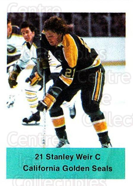 1974-75 NHL Action Stamps #63 Stan Weir<br/>1 In Stock - $3.00 each - <a href=https://centericecollectibles.foxycart.com/cart?name=1974-75%20NHL%20Action%20Stamps%20%2363%20Stan%20Weir...&quantity_max=1&price=$3.00&code=713398 class=foxycart> Buy it now! </a>