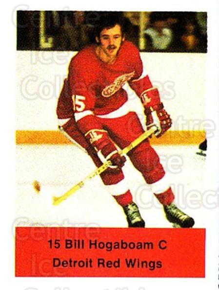 1974-75 NHL Action Stamps #99 Bill Hogaboam<br/>1 In Stock - $3.00 each - <a href=https://centericecollectibles.foxycart.com/cart?name=1974-75%20NHL%20Action%20Stamps%20%2399%20Bill%20Hogaboam...&quantity_max=1&price=$3.00&code=713434 class=foxycart> Buy it now! </a>