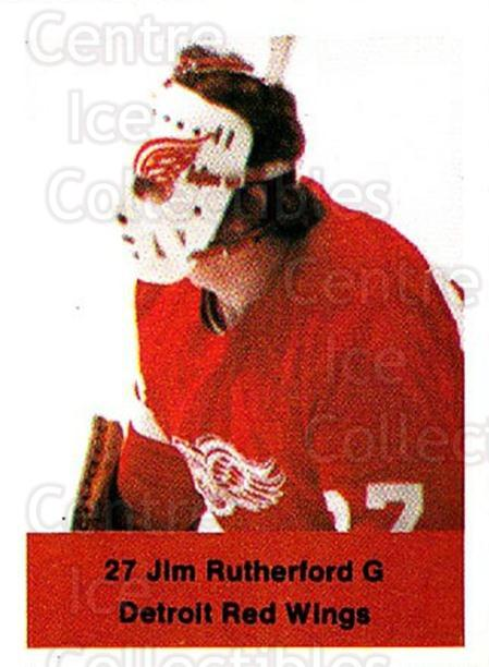 1974-75 NHL Action Stamps #100 Jim Rutherford<br/>1 In Stock - $3.00 each - <a href=https://centericecollectibles.foxycart.com/cart?name=1974-75%20NHL%20Action%20Stamps%20%23100%20Jim%20Rutherford...&quantity_max=1&price=$3.00&code=713435 class=foxycart> Buy it now! </a>