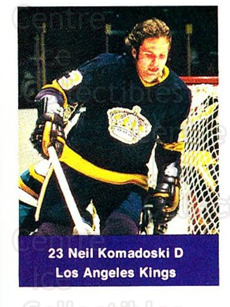 1974-75 NHL Action Stamps #112 Neil Komadoski<br/>1 In Stock - $3.00 each - <a href=https://centericecollectibles.foxycart.com/cart?name=1974-75%20NHL%20Action%20Stamps%20%23112%20Neil%20Komadoski...&quantity_max=1&price=$3.00&code=713447 class=foxycart> Buy it now! </a>