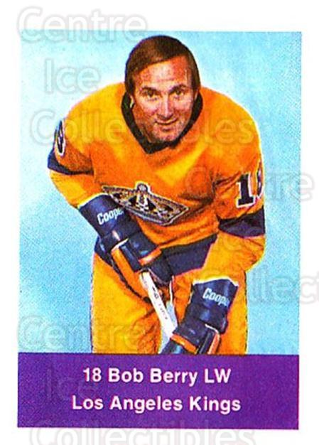 1974-75 NHL Action Stamps #120 Bob Berry<br/>1 In Stock - $3.00 each - <a href=https://centericecollectibles.foxycart.com/cart?name=1974-75%20NHL%20Action%20Stamps%20%23120%20Bob%20Berry...&quantity_max=1&price=$3.00&code=713455 class=foxycart> Buy it now! </a>