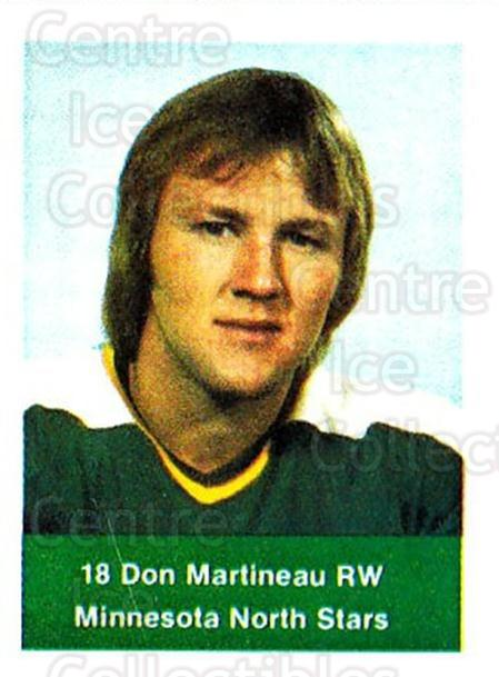 1974-75 NHL Action Stamps #144 Don Martineau<br/>1 In Stock - $3.00 each - <a href=https://centericecollectibles.foxycart.com/cart?name=1974-75%20NHL%20Action%20Stamps%20%23144%20Don%20Martineau...&quantity_max=1&price=$3.00&code=713479 class=foxycart> Buy it now! </a>