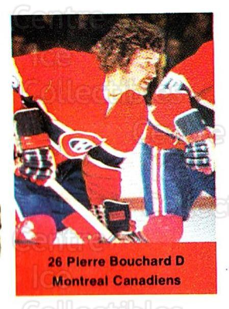 1974-75 NHL Action Stamps #159 Pierre Bouchard<br/>1 In Stock - $3.00 each - <a href=https://centericecollectibles.foxycart.com/cart?name=1974-75%20NHL%20Action%20Stamps%20%23159%20Pierre%20Bouchard...&quantity_max=1&price=$3.00&code=713494 class=foxycart> Buy it now! </a>